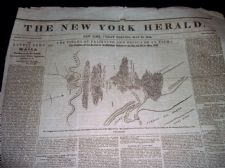 RARE ANTIQUE NEWSPAPER NEW YORK HERALD MAY 29th 1846 PALO ALTO RIO GRANDE WAR